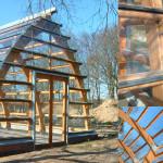 Greenhouse Inside Hothouse GLASS Wooden Frameless
